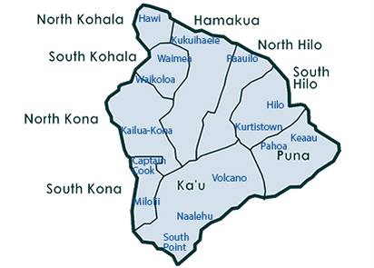 Image of Interactive Big Island Map, on behalf of Parks Realty Hawaii